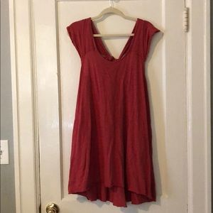 Free People capped sleeve dress